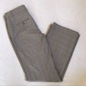 Express Editor Taupe Plaid Trousers